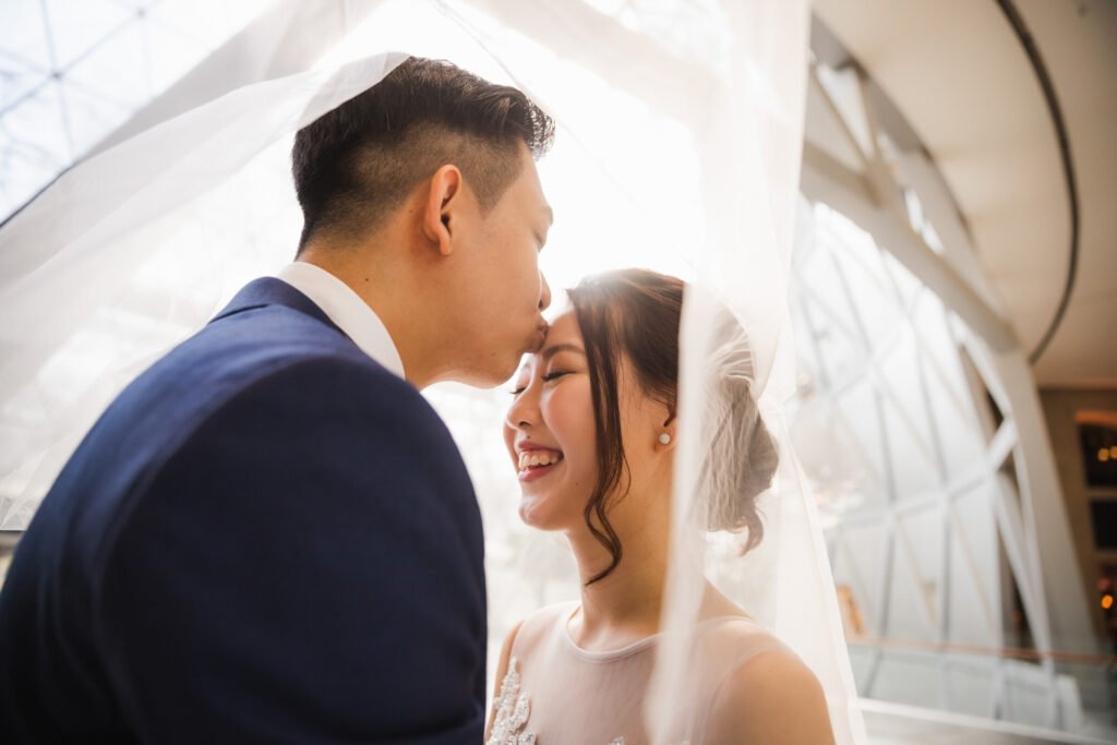 Picture of a wedding couple